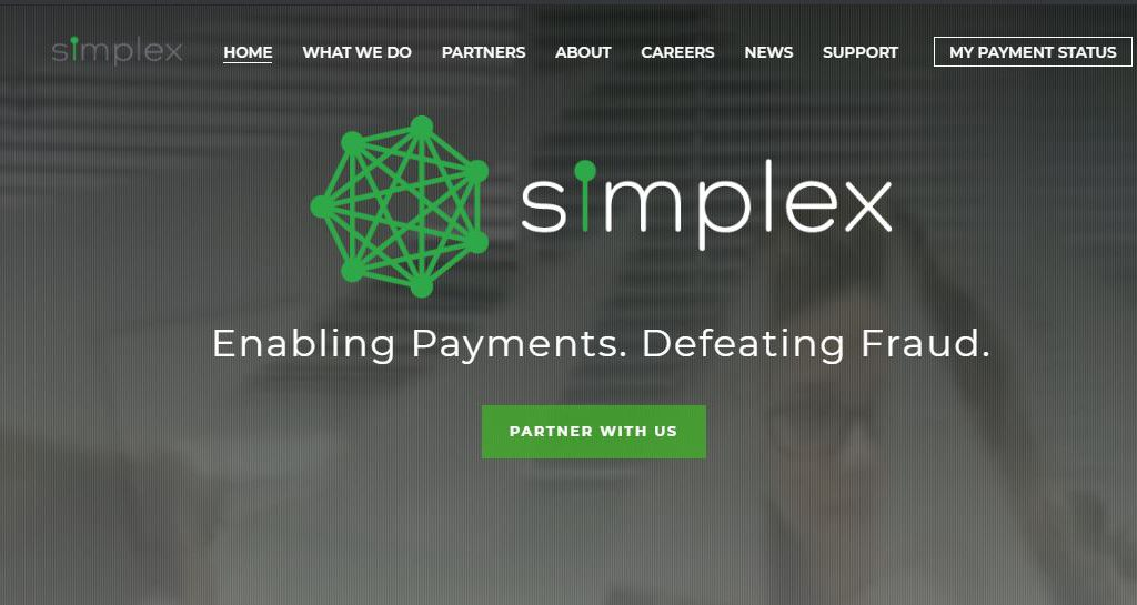 a screenshot of Simplex's website for gateway review